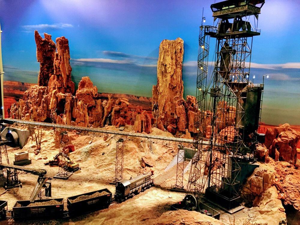 Maquette usine Italie rail