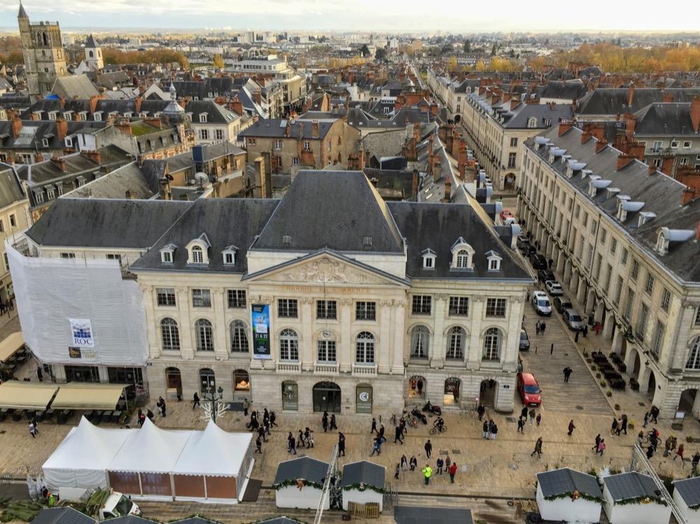 Vue aérienne d'Orléans depuis la grande roue