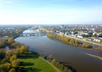 Orléans vue de drone