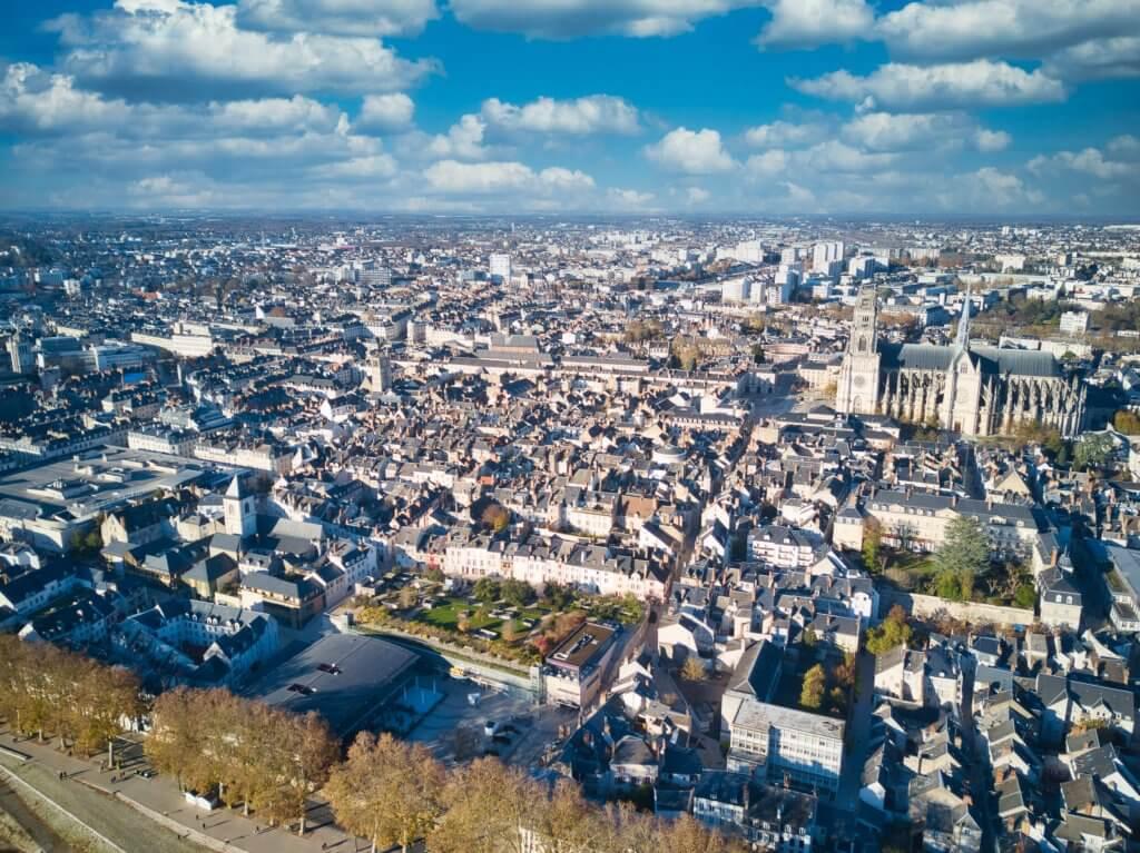 Orléans centre drone 2
