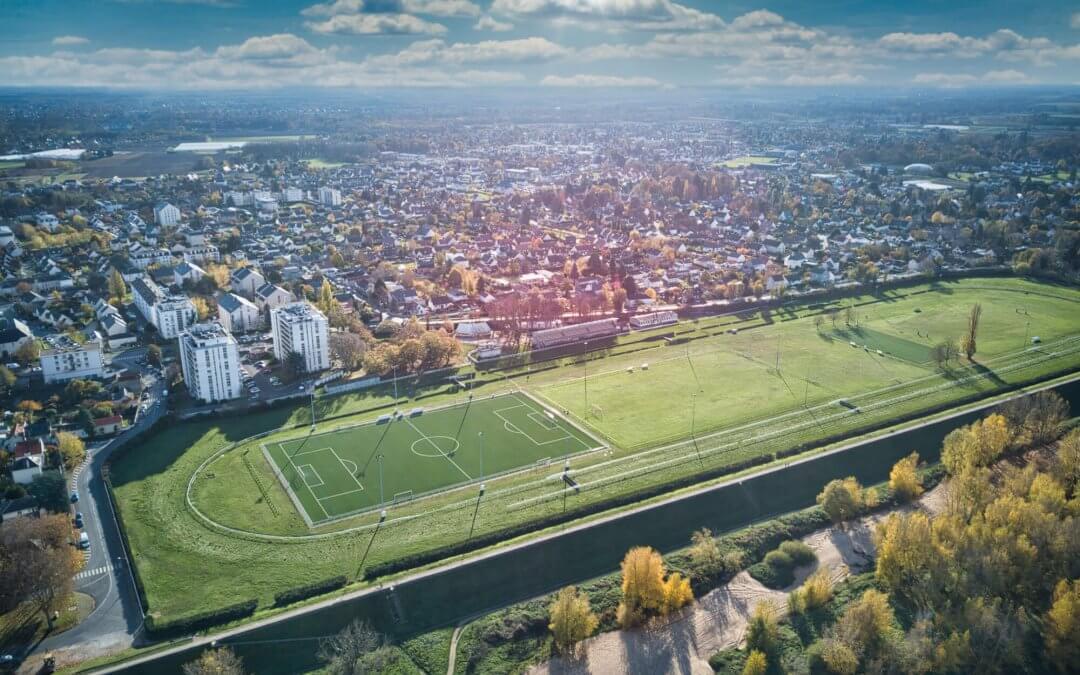 Hippodrome d'Orléans vu de drone