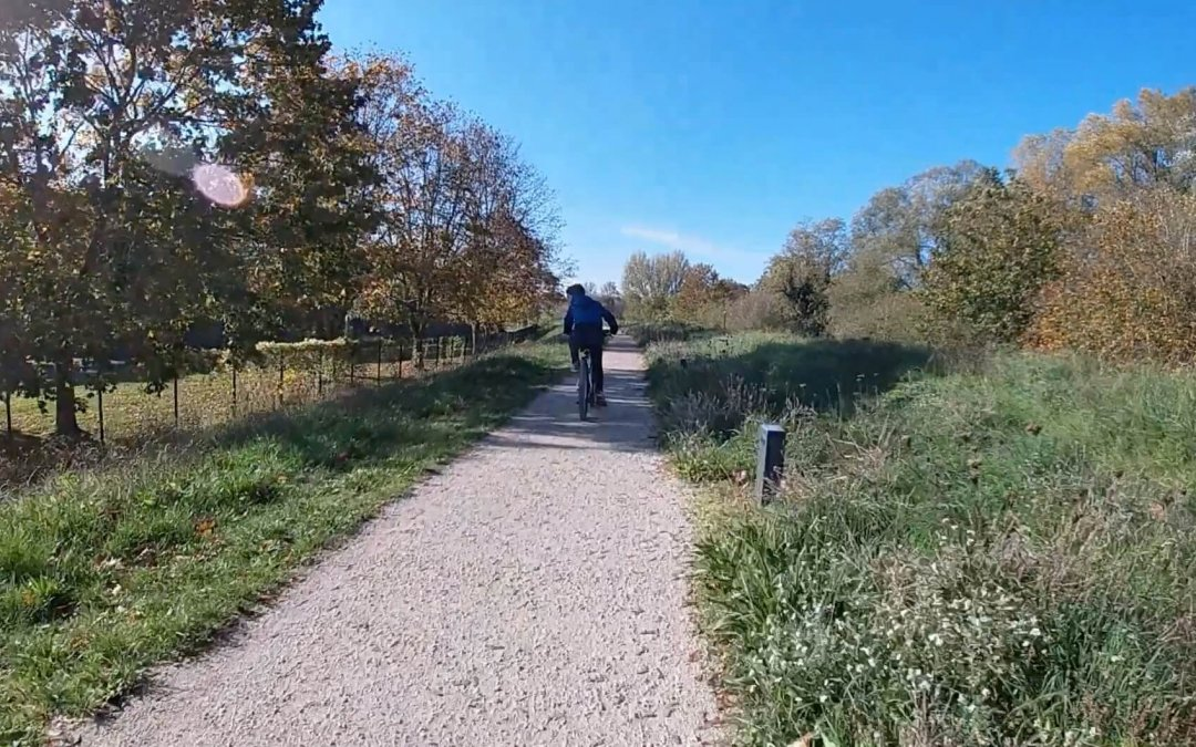 Promenade à vélo à Orléans pendant le confinement