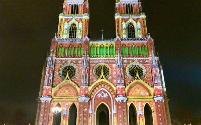 Illuminations de Noël de la cathédrale d'Orléans