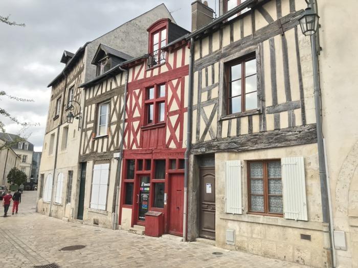 maisons à pan de bois à Orléans